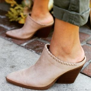 Shoes - 🚨LAST PAIR//The Josie// Taupe vegan suede Mule